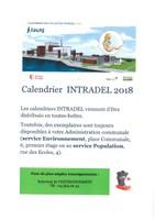 Calendrier INTRADEL 2018