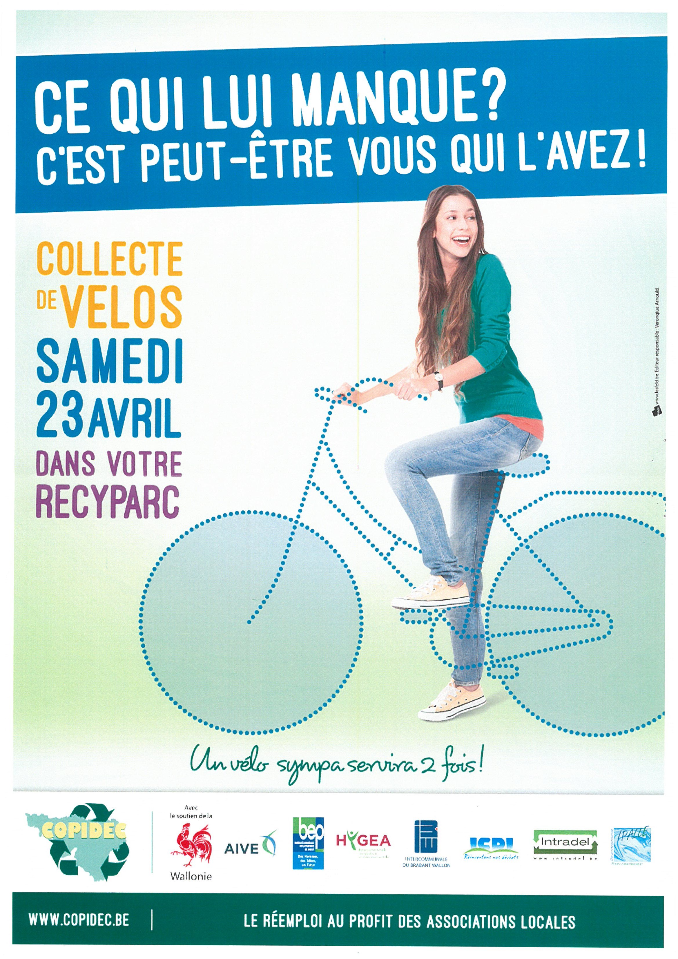 Collecte de vélos dans les recyparcs 2016