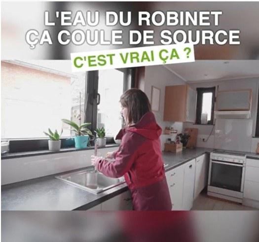 L'eau du robinet : une vidéo du Service Public de Wallonie