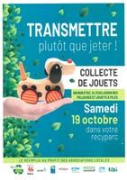 19 octobre - Collecte de jouets dans les recyparcs