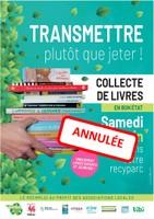 20 juin 2020 - Collecte des livres dans les recyparcs - ANNULATION