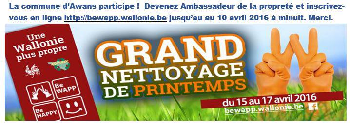 Be WAPP, Be HAPPY Grand Nettoyage de Printemps