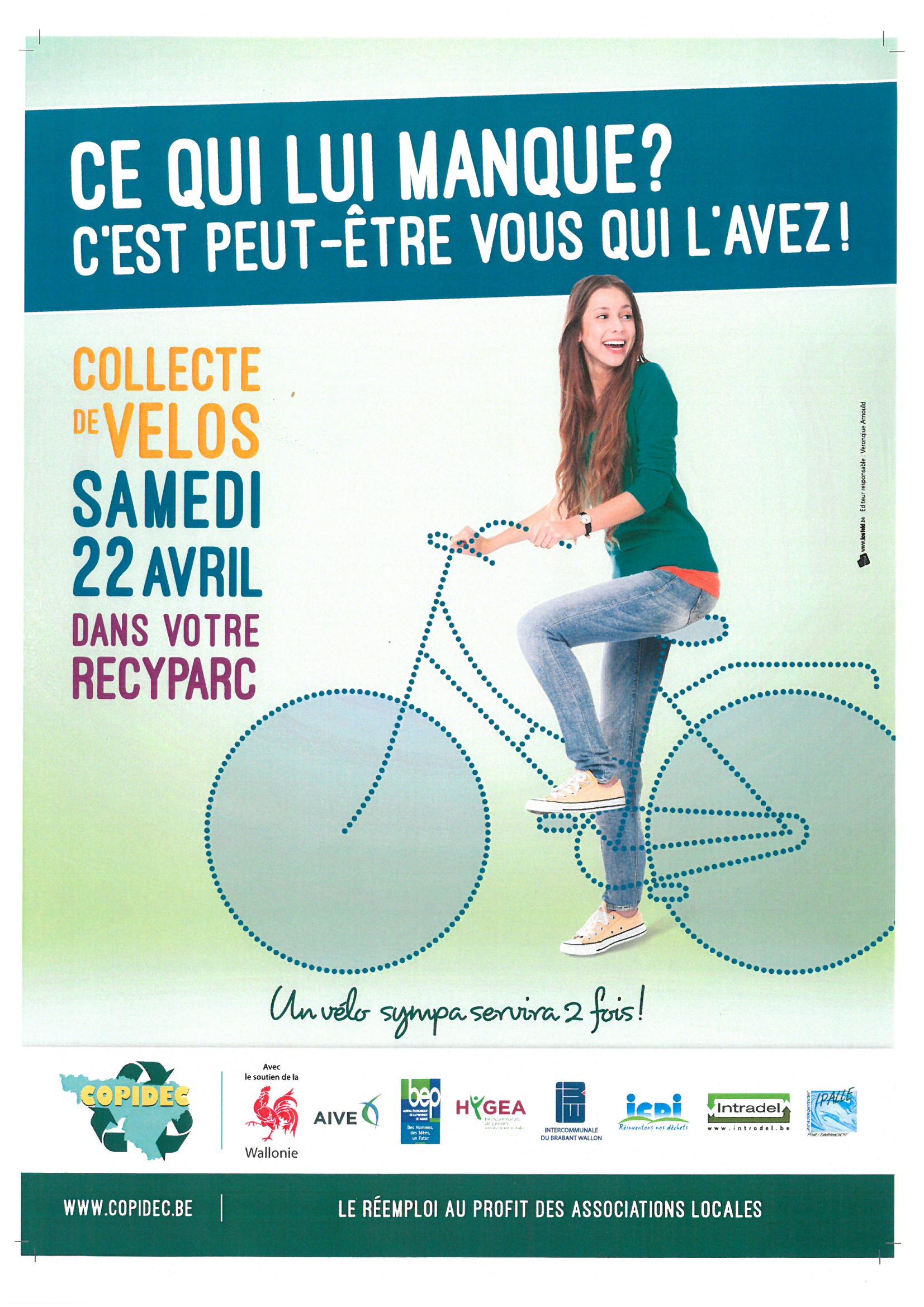 Collecte de vélos dans les recyparcs
