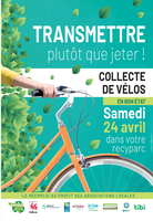 Collecte des vélos dans les recyparcs - Samedi 24 avril 2021