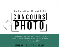"""INTRADEL - Concours photos """"calendriers 2019"""""""