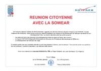 Réunion citoyenne avec la SOWAER