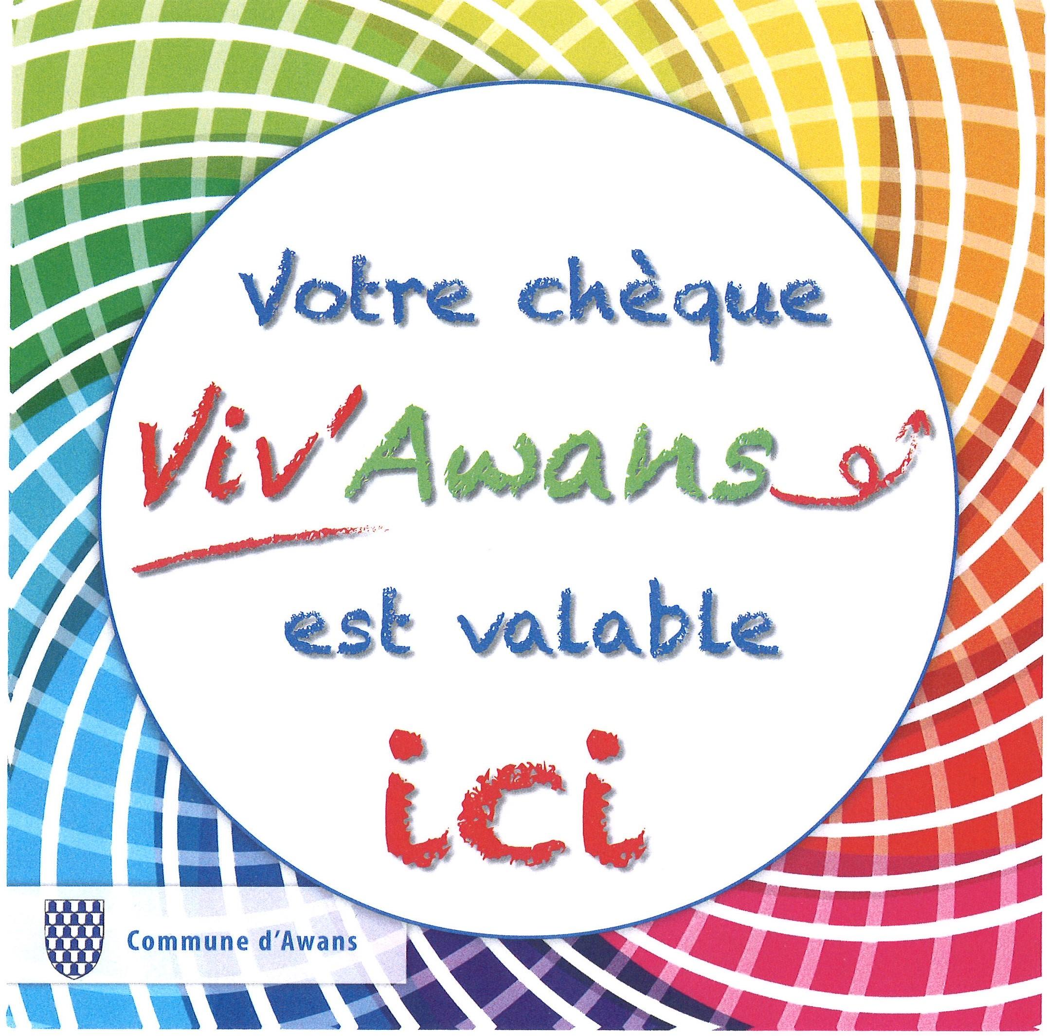 Chèques Viv'Awans - Informations aux ménages - Le chèque Viv'Awans... le voilà!